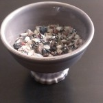 feminine receptivity: rose quartz, hematite, lava rock, ruby, moonstone, lavender