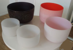 Therapeutic Singing Bowls or Sound Bowls, used in Sound Therapy