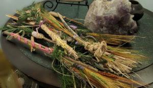 Altar brooms from everyone at circle