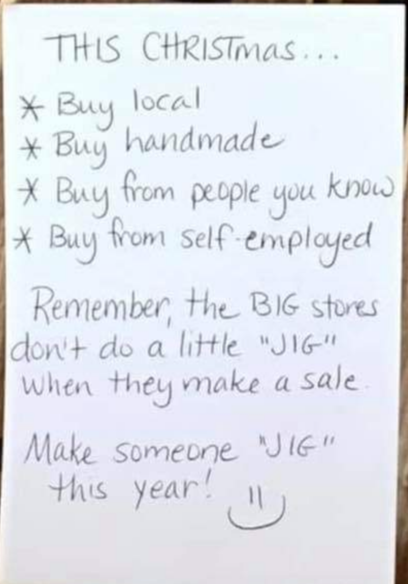 Don't buy from the big stores this holiday season