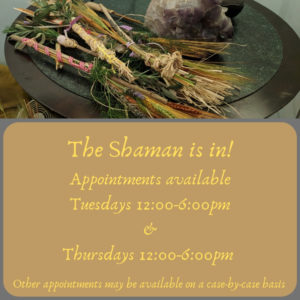 The Shaman is in! Ayamanatara has openings to take on a few more clients.