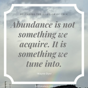 Abundance quote from Wayne Dyer