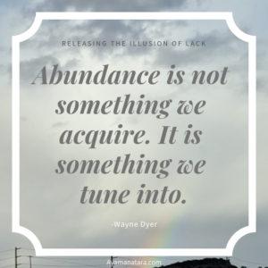 Abundance quote from Wayne Dyer