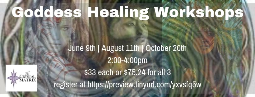 Goddess healing Workshops banner