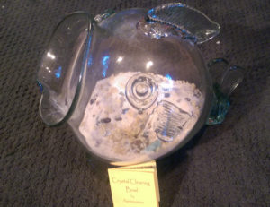 Custom Clearing Bowl in a glass fish