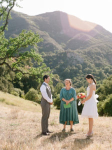 Ayamanatara officiating a private wedding ceremony in Malibu Canyon