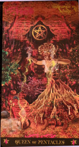 Queen of Pentacles from the Starman Tarot by Davide and Esther De Angelis